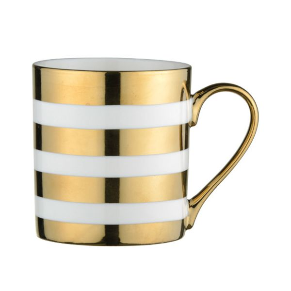 BIA Stripes Mug Gold