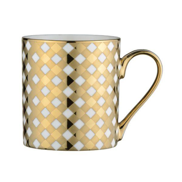BIA Tartan Mug Gold