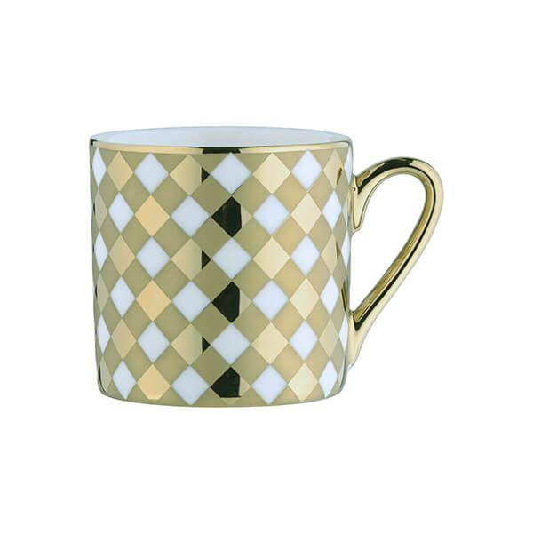 BIA Tartan Espresso Mug Gold