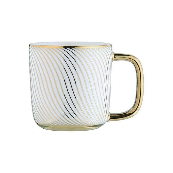 BIA Swirl Espresso Mug Gold