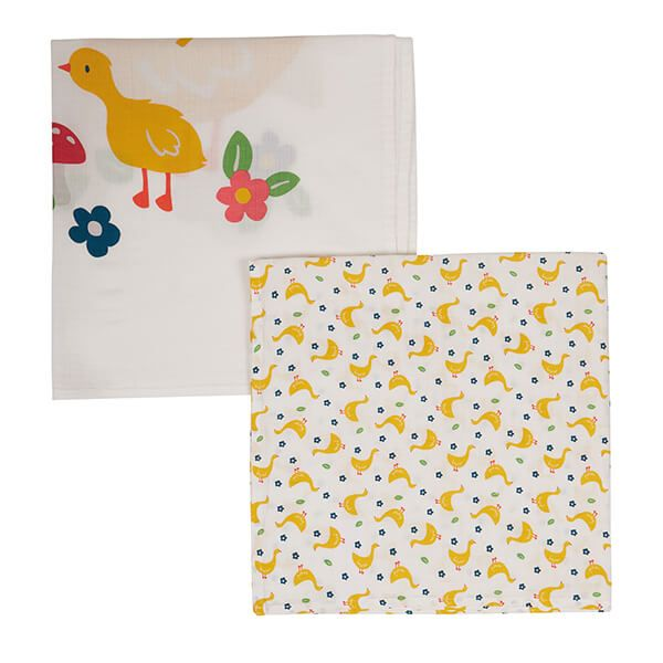 Frugi Organic Gaggle of Geese Lovely 2 pack Muslin