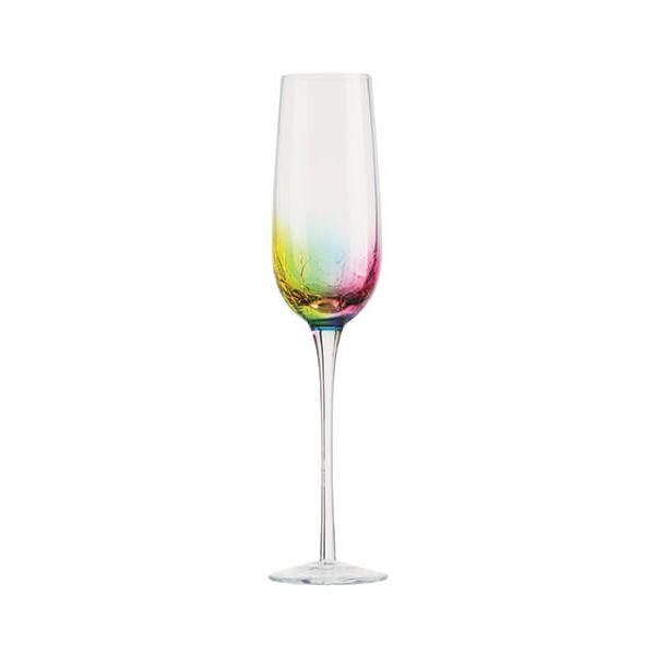 Artland Neon Set Of 2 Champagne / Prosecco Flutes