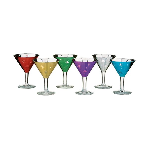 Artland Set Of 6 Shooting Stars Mini Martinis