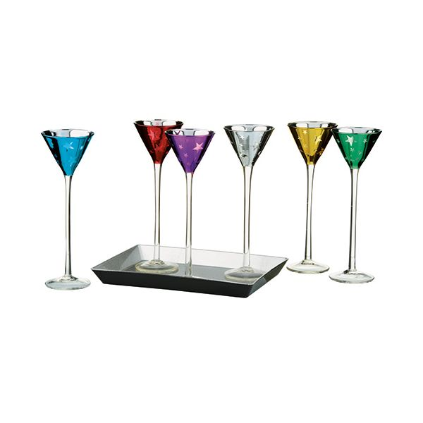 Artland 7 Piece Shooting Stars Liqueuer Set Cone