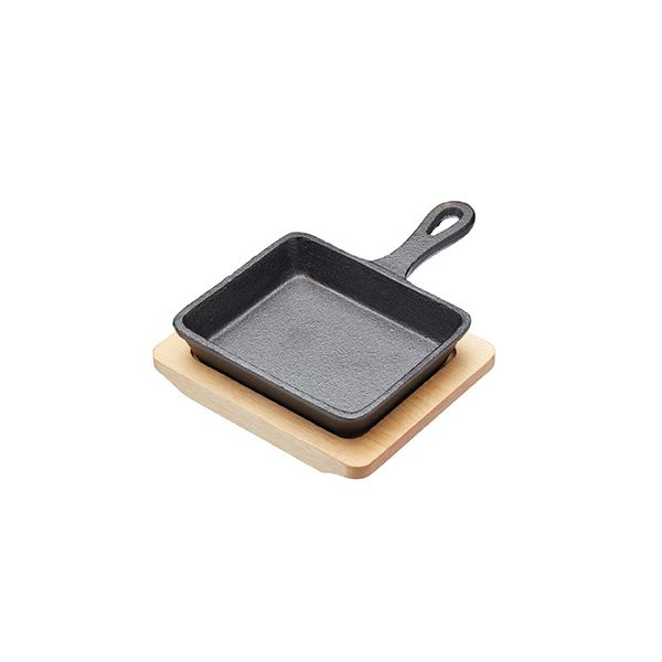Artesa 12.5cm Cast Iron Frying Pan With Board