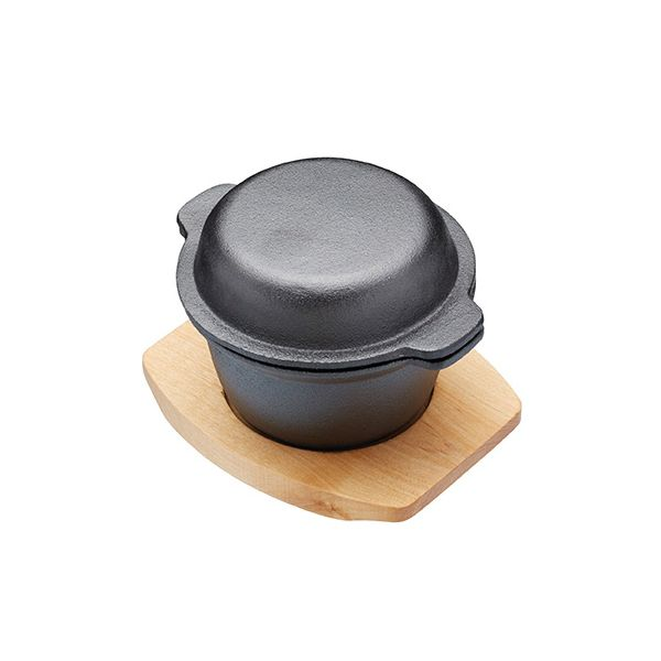 Artesa Mini Garlic Cast Iron Pot With Board