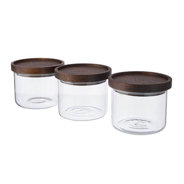 Artisan Street 600ml Stacking Storage Jar Set Of 3