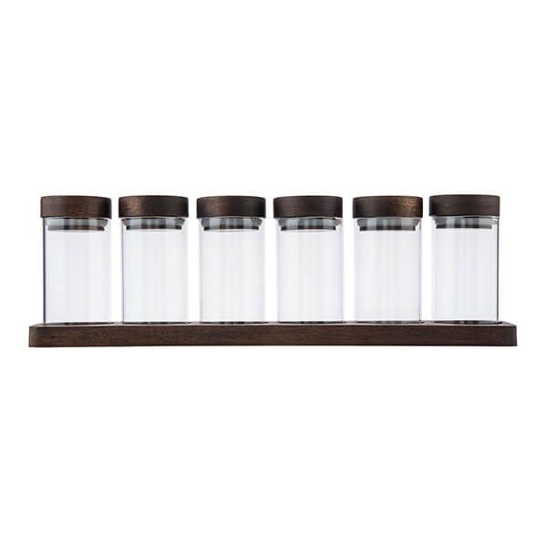 Artisan Street 6 Spice Jars With Board