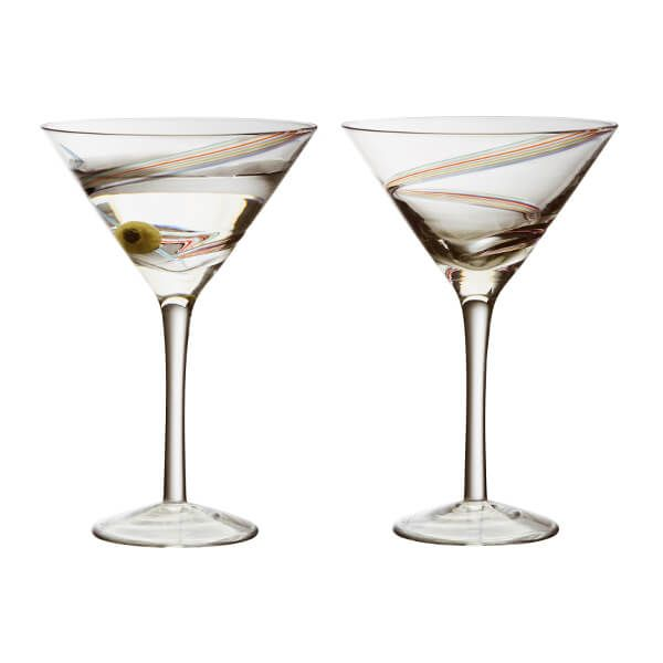 Anton Studios Set of 2 Arc Cocktail Glasses