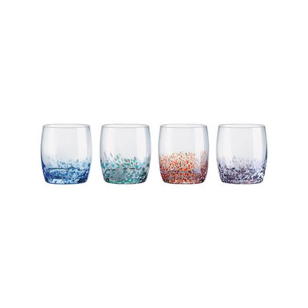 Anton Studios Set of 4 Speckle DOF Tumblers