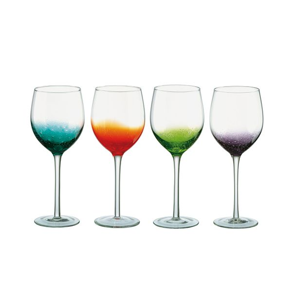 Anton Studios Fizz Set of 4 Wine Glasses