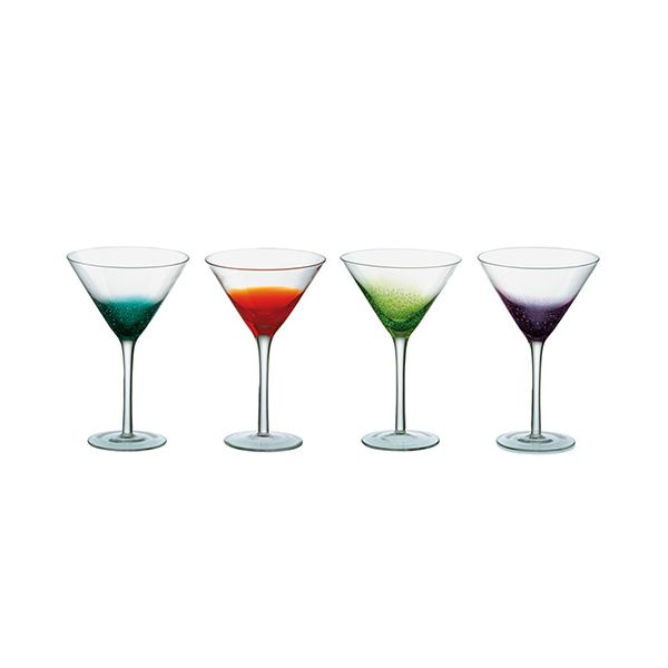 Anton Studios Fizz Set of 4 Cocktail Glasses