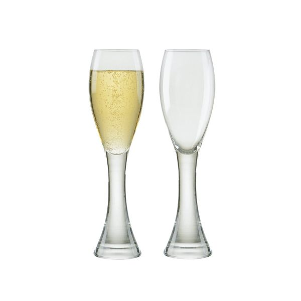 Anton Studios Design Manhattan Set of 2 Champagne Flutes