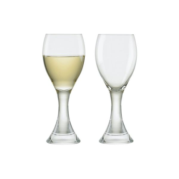 Anton Studios Design Manhattan Set of 2 White Wine Glasses