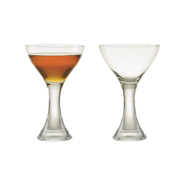 Anton Studios Design Manhattan Set of 2 Cocktail Glasses