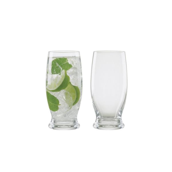 Anton Studios Design Manhattan Set of 2 Long Drink Glasses