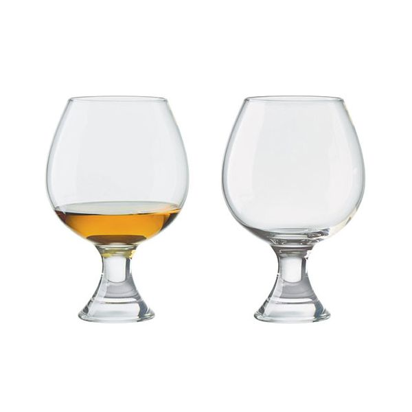 Anton Studios Design Manhattan Set of 2 Brandy Glasses