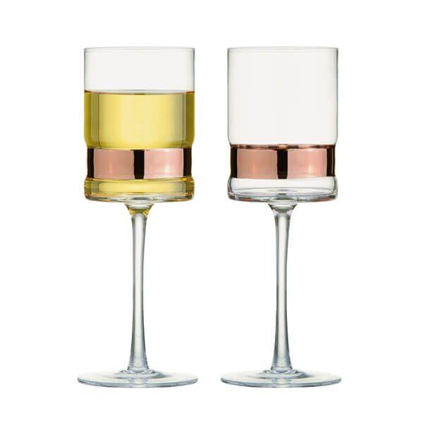 Anton Studios Set of 2 SoHo Wine Glasses Bronze