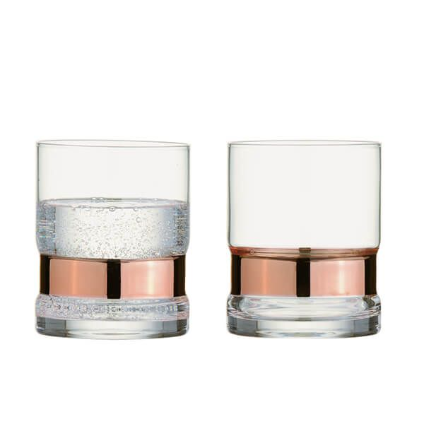 Anton Studios Set of 2 SoHo DOF Tumblers Bronze