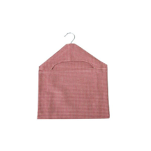 Walton & Co Auberge Gingham Peg Bag Red