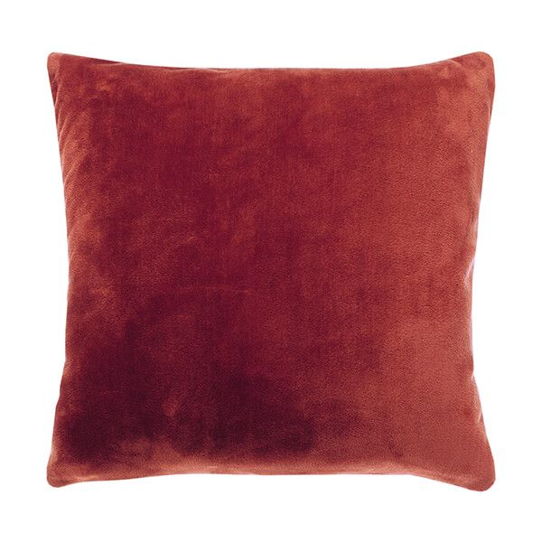 Walton & Co Cashmere Earth Red Touch Cushion