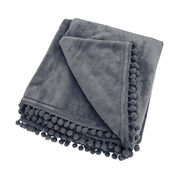 Walton & Co Cashmere Charcoal Touch Fleece Throw