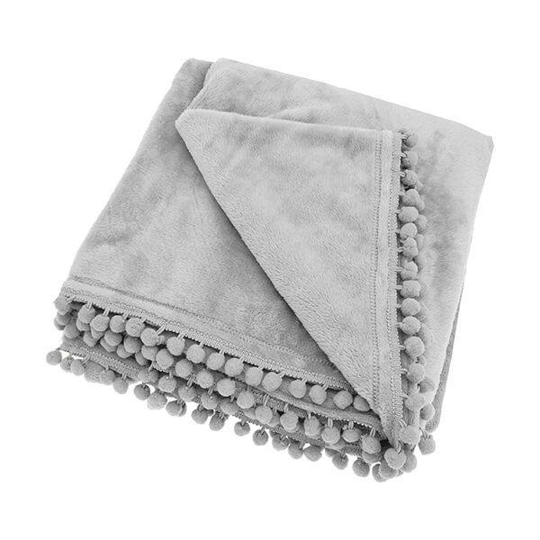 Walton & Co Cashmere Grey Touch Fleece Throw