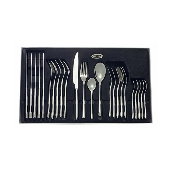 Stellar Raglan Polished 24 Piece Cutlery Gift Box Set