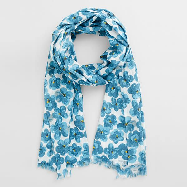 Seasalt New Everyday Scarf Geranium Flower Waterscape