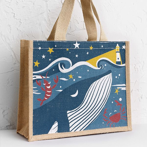 Seasalt Cute Jute Whale Of A Good Time