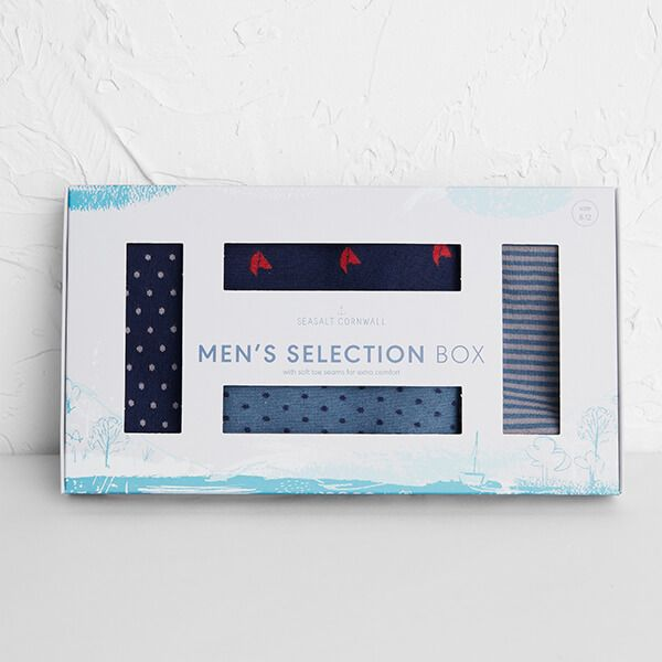 Seasalt Men's Selection Box Socks Pack Quiet Lane Mix