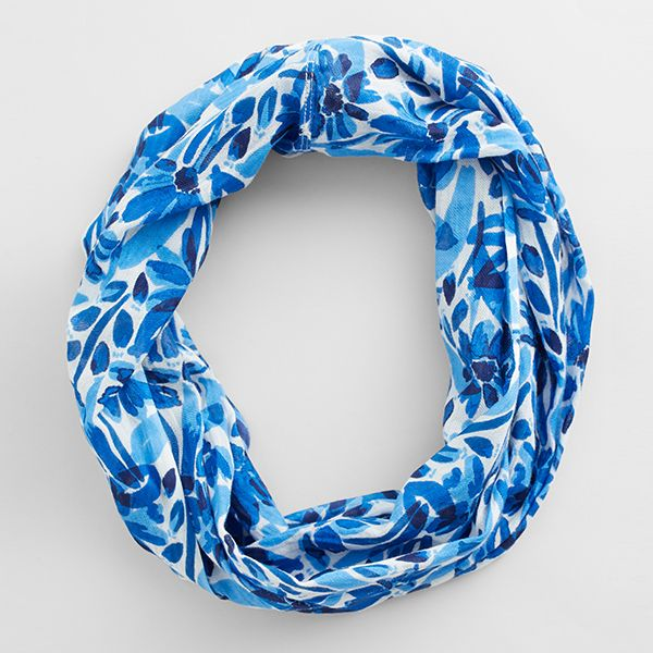Seasalt Watercolour Floral Cargo Ballard Point Circle Scarf