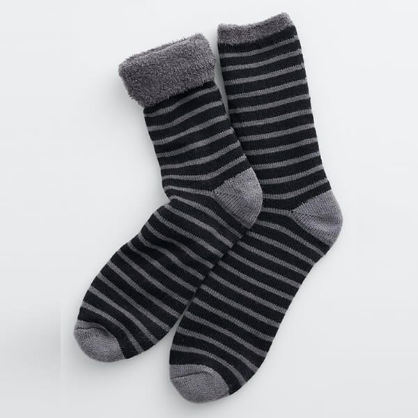 Seasalt Men's Cabin Socks Breton Black Coal