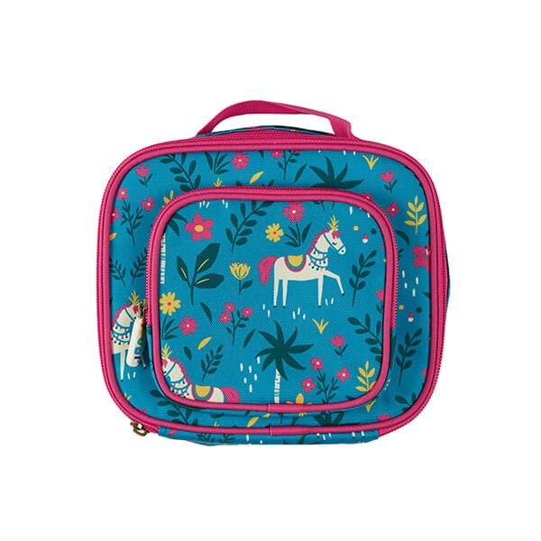 Frugi Organic Teal Indian Horse Pack A Snack Lunch Bag