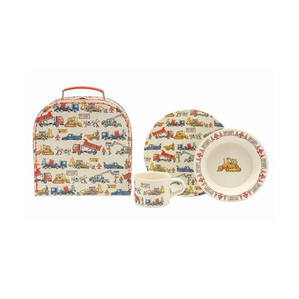 Emma Bridgewater Builders At Work 3 Piece Melamine Set