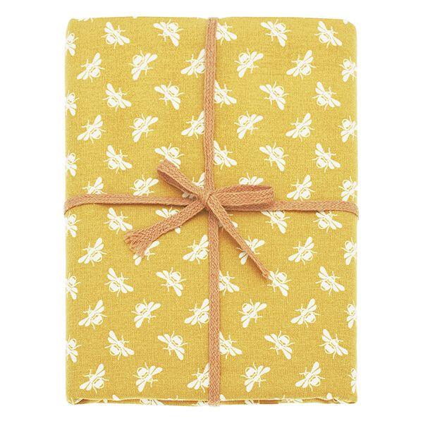 Walton & Co Ochre Bee Tablecloth 130x180cm
