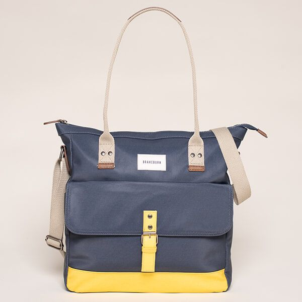 Brakeburn Navy Shopper Bag