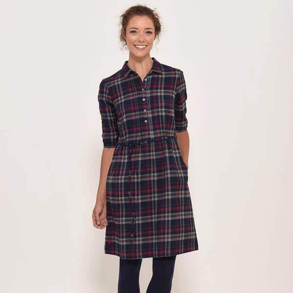 Brakeburn Navy Flannel Dress