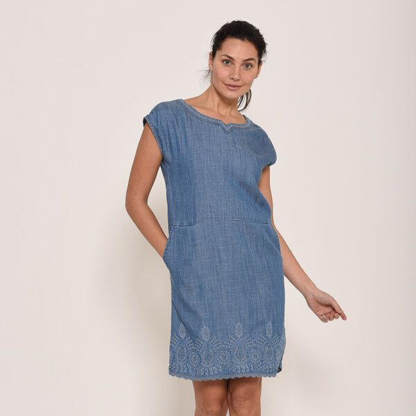 Brakeburn Broidery Anglaise Shift Dress