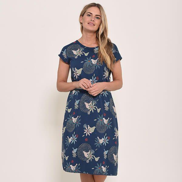 Brakeburn Dove Jersey Dress