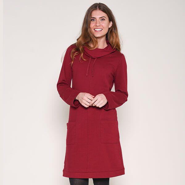 Brakeburn Jersey Cowl Neck Dress