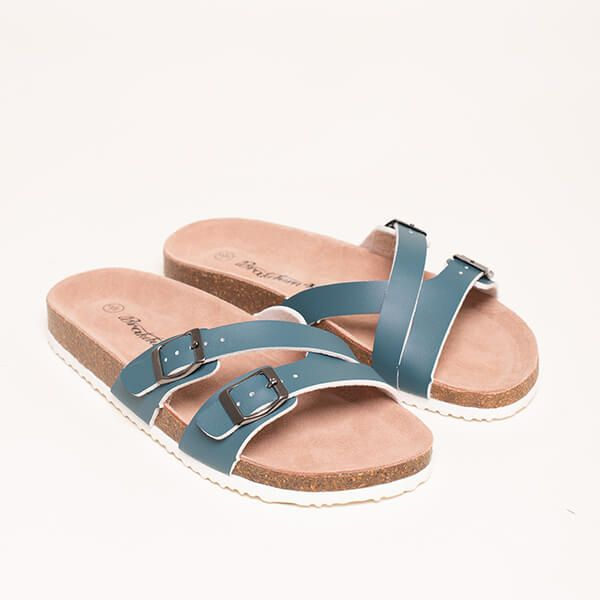 Brakeburn Blue Multistrap Sandals