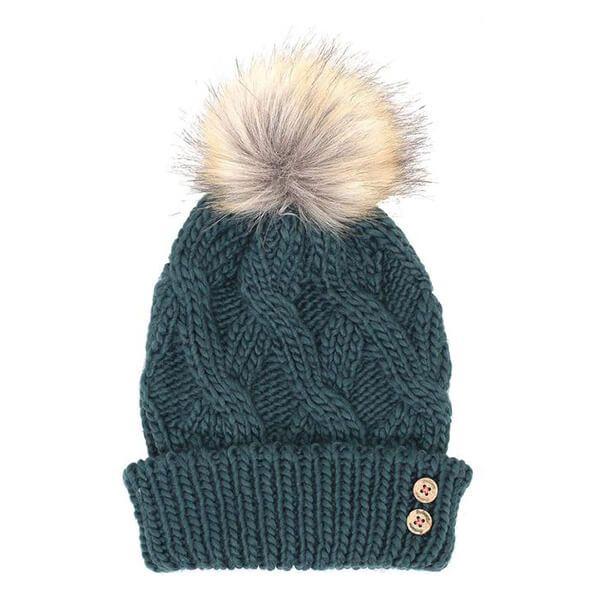Brakeburn Teal Cable Knit Hat