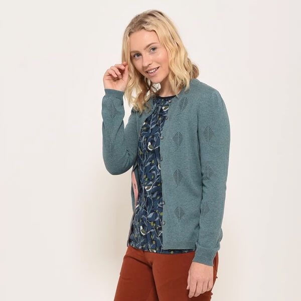 Brakeburn Light Teal Kite Pointelle Cardigan
