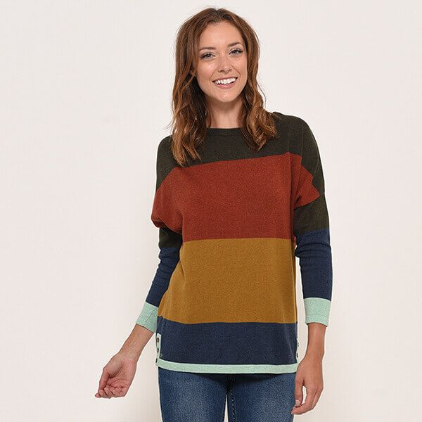 Brakeburn Multi Stripe Jumper