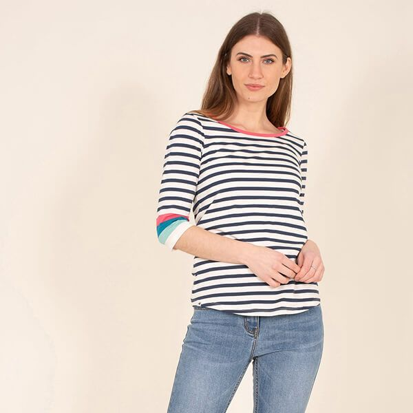 Brakeburn Long Sleeve Colour Block T-Shirt