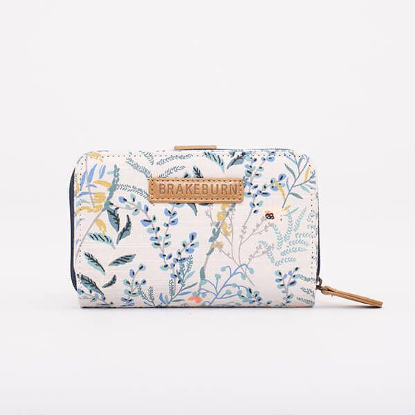 Brakeburn White Botanical Wallet