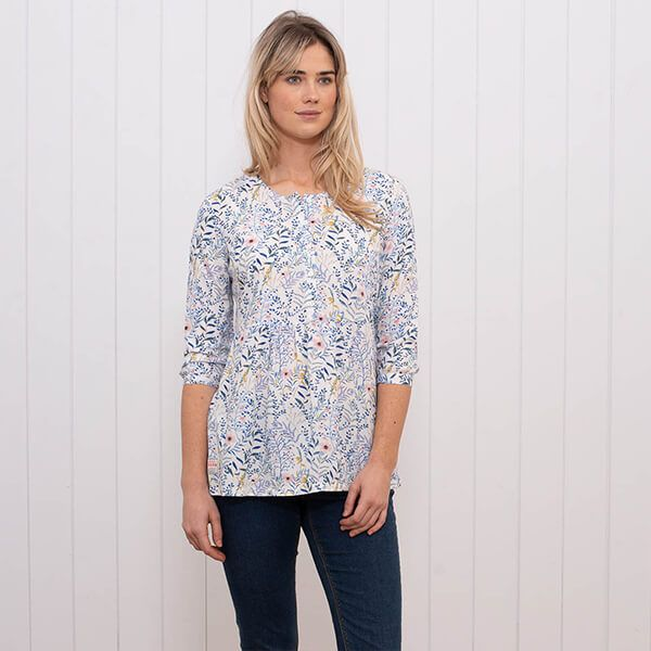 Brakeburn Botanical 3/4 Length Sleeve Blouse