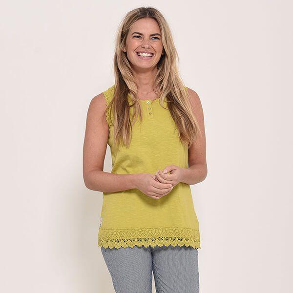 Brakeburn Garment Dyed Sleeveless Top