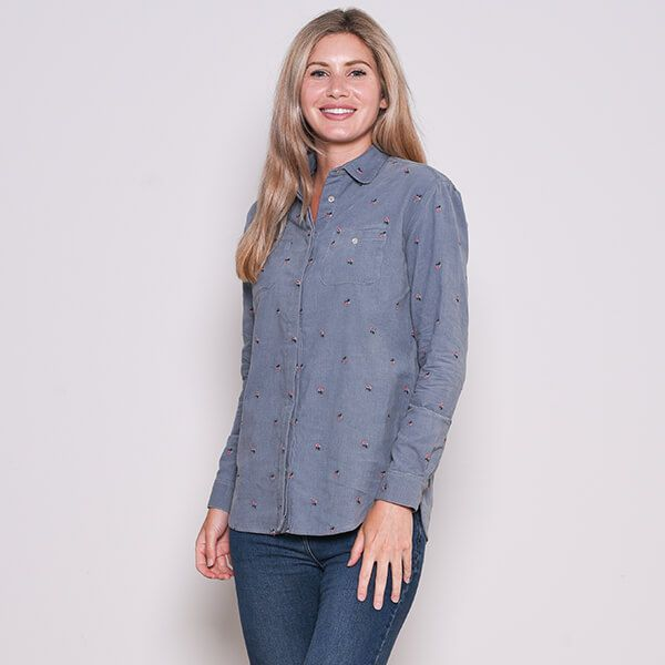 Brakeburn Embroidered Cord Shirt